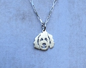 Clyde Goldendoodle - Labradoodle Pendant / Charm in Sterling Silver - Part of the Clyde Fundraiser Collection