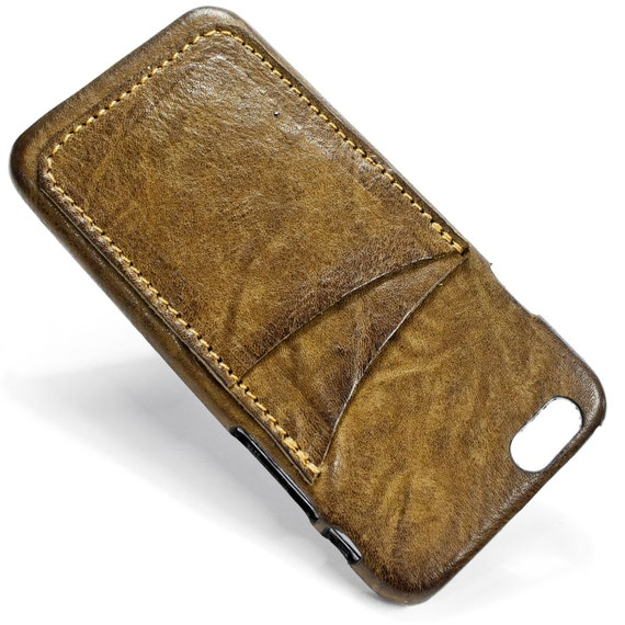 "iPhone 7 display 4.7"" Italian Leather Case with 2 credit cards holder vertical SLOTs choose the color of BODY and ACCENT"