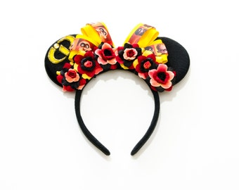 Incredibles Mouse Ears Headband, Flower Mouse Ears, LED Headband, Superhero Ears, Mickey Ears Headband, Incredibles Costume, Mouse Costume