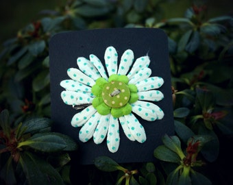 Polka Dot Daisy Hair Flower