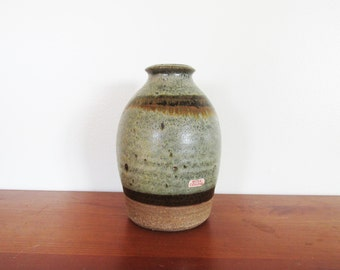 Berea College Stamped Earth Tone Vase