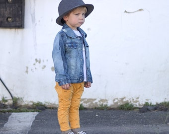 The Scene  Jacket - Baby Jean Jacket - Baby Jacket - Baby Summer Outfit - Baby Outfit Accessory - Toddler Jean Jacket