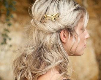 Hair Comb, Gold Hair Clip, Boho Accessory, Boho Hair Accessory, Gold Hair Pin, Boho Hair Comb, Bohemian Hair Clip, Gold Hair Comb, Falcon