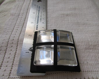 FUN vintage shoe clips huge faceted clear Lucite monsters  shoe jewelry