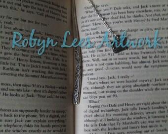 Silver Retro Typewriter Bookmark, Floral Metal Book Mark