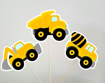 Construction Party Centerpieces, Construction Birthday Centerpieces, Dump Truck Centerpieces, Digger Centerpieces