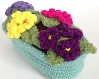 Crochet Primrose Plant
