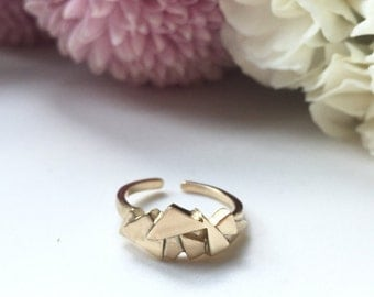 Cluster Ring - Adjustable Thin Band