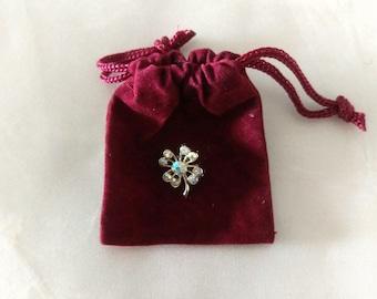 Vintage Lucky 4-Leaf Clover Pin - Brooch