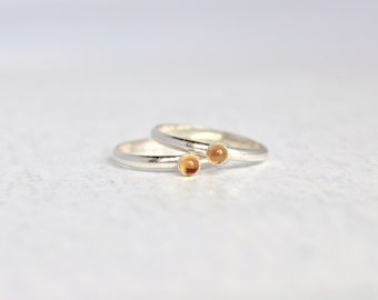 Citrine Ring.  Sterling Silver Citrine Ring.  Birthstone Ring.  Simple silver ring.  Everyday wear ring.
