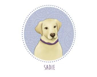 Personalized pet illustration - Custom Dog Portrait - Custom Pet portrait - Dog photo -Wall decor - Digital file only - Printable art - Gift