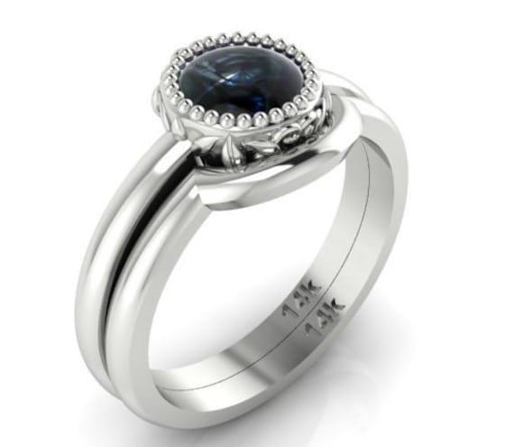Affordable diamond Engagement Ring set Rose cut Diamond Ring
