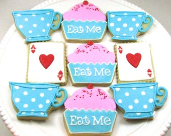 Alice in Wonderland Cookies-One Dozen