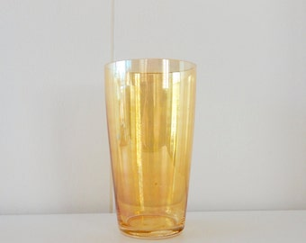 Gold Carnival Glass Drinking Glass