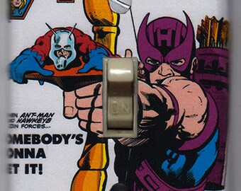 Avengers Light Switch Cover Plate - Avengers 223 Marvel Comics Hawkeye Ant Man