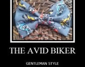 Bowtie made with Motorcycle fabric/handmade/babies/boys/men