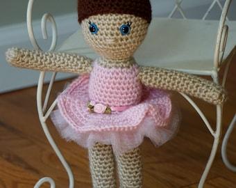 Ballerina Crochet Doll