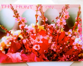 Easter Card - Floral Easter Card - Easter Egg Hunt - Spring Bouquet Easter Card