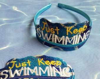 Just Keep Swimming Headband