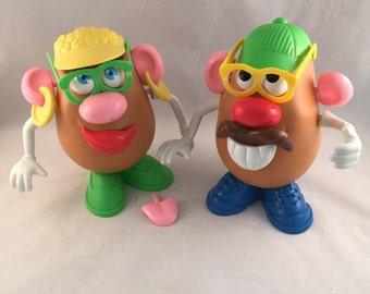 Vintage Playskool Mr. and Mrs. Potato Head with Accessories 1985