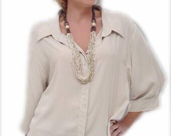 XXL Plus Size Clothing   Women's Classic Shirt   3/4 sleeve   Generously Cut for Plus Sizes, 26/28