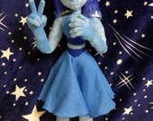 Steven Universe inspired 85 cm high Lapis Lazuli full poseable art doll plushie (removable wings are sold separately!). Customizations OK!