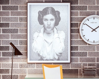 Rebel Yell. Princess Leia Billy Idol Typographic Art Print.