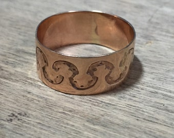 Vintage 14K yellow gold cigar band