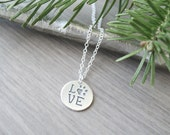Sterling Silver, Paw Print Necklace, Animal Rescue, Dog Lover Gift, Pet Necklace, Pet Paw Print, Paw Necklace, Dog Owner Jewelry, Love Paw