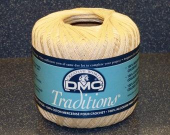 100% Cotton Mercerized Crochet Cotton - DMC Traditional - Original Unused Condition - No Odors - No Stains - Ready to Use - Ecru - Lot #08