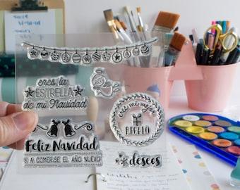 Clear Stamp Set FELIZ NAVIDAD