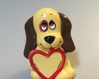 HOUND DOG Bank,Vintage puppy dog bank,vintage bank for child,picture frame bank,brown dog bank,cute bank for child,gift for child,JSNY Bank