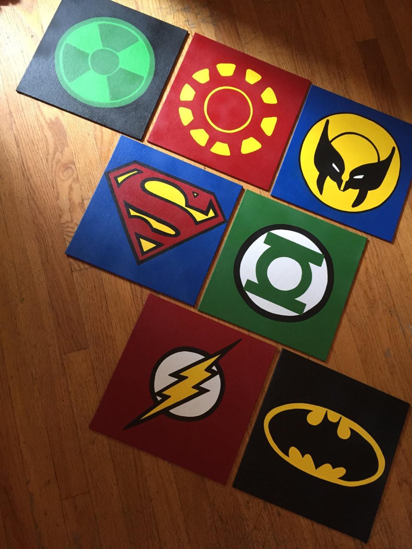 Superhero canvas custom and handmade super hero wall art for Superhero wall art