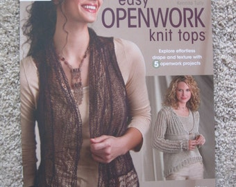 Knitting Pattern Book - Annie's Knitting #121089 - Easy Openwork Knit Tops