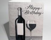 Custom Wine Lover's Birthday Card