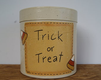Candy Corn Halloween Decoration, Vintage Ice Cream Carton, Candy Corn Decoration, Halloween Candy Gift Box, Trick or Treat Halloween Decor