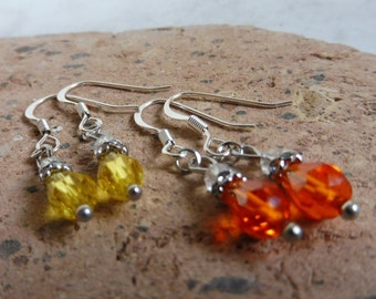 Swarovski Crystal Earrings, Swarovski Crystal Jewelry, Clear Crystal Earrings, Hypoallergenic Pierced Earrings, Gift Idea, Fall, Autumn
