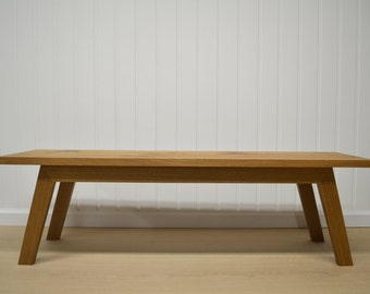 White Oak Slab Bench Coffee Table