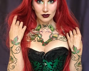 Poison Ivy Temporary Tattoo Set