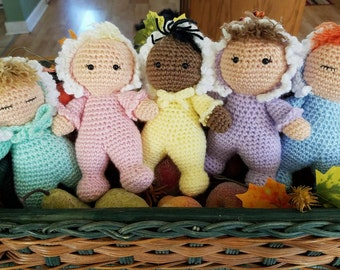 Crocheted Baby Rattle Dolls