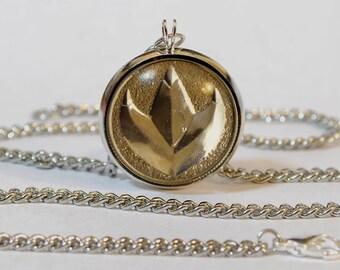 Handmade Mighty Morphin Power Rangers Green Ranger Pendant Necklace