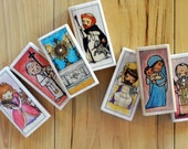 7 Saint Blocks of your choice (65+ patron saints to choose from, Francis, Lucy, Christopher, Michael, Therese, Cecilia etc)