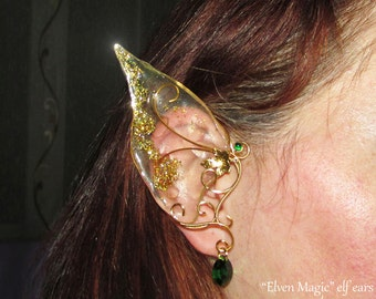Elven Magic, Long Elf Ears for woodland elf, elven ears for elf costume, elvish jewelry, fairy ears for fairy costume, fantasy lover gift