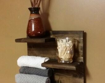 Rustic  shelf, Rustic Home Decor,  Bathroom Shelf, kitchen shelf, Hall Shelf, country western decor, wood shelf, Small Shelf