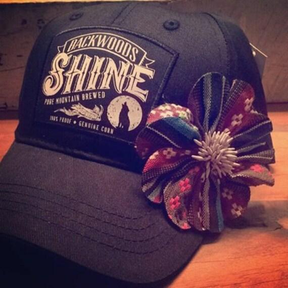 Southern Fried Gypsy Black Backwoods Shine Trucker Hat Cap