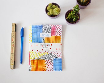A5 Watercolour Abstract Pattern Notebook