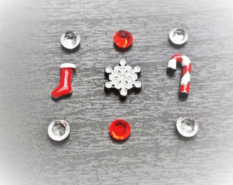 Christmas Floating Charm Set for Floating Lockets-Gift Idea