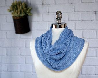 Light blue Linen/Pima Cotton Cowl
