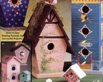 Bird Houses (Painted Wood) from Suzanne McNeill Design Originals | Craft Book