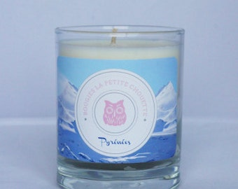 Candle scent of clean laundry, Pyrenees, soy wax, 200g